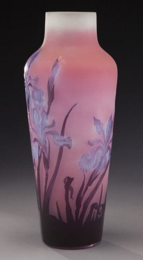 Large Galle French cameo glass vase, - 2