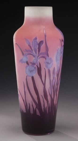 Large Galle French cameo glass vase, - 5