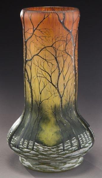 Daum Nancy scenic French cameo vase, - 2