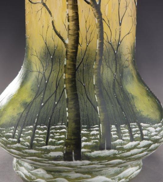 Daum Nancy scenic French cameo vase, - 7