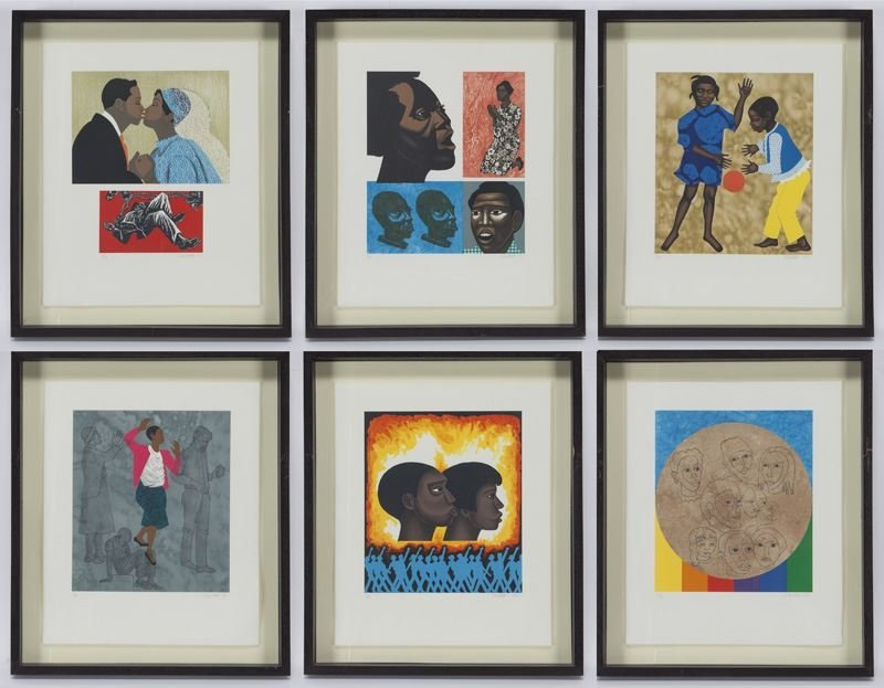 (6) Works by Elizabeth Catlett from the series,