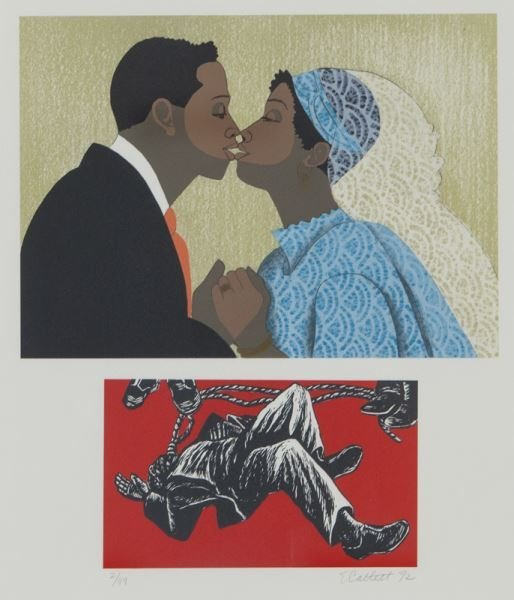 (6) Works by Elizabeth Catlett from the series, - 2