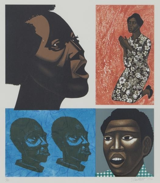 (6) Works by Elizabeth Catlett from the series, - 5