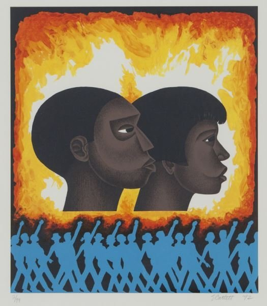 (6) Works by Elizabeth Catlett from the series, - 8