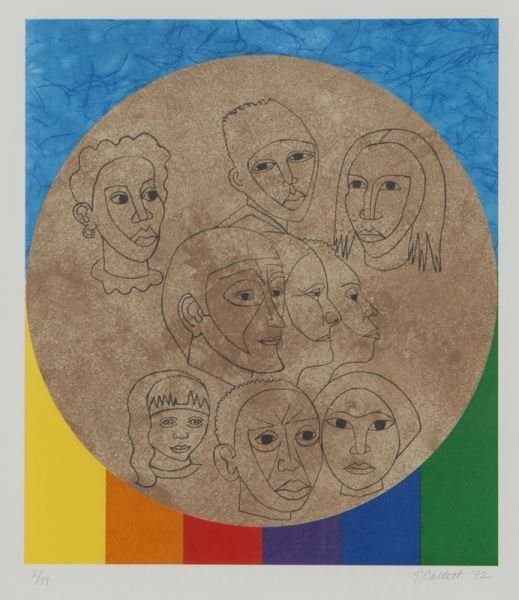 (6) Works by Elizabeth Catlett from the series, - 9