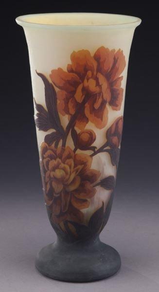 Mueller Fres Luneville cameo glass vase,