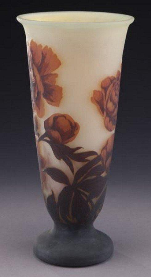 Mueller Fres Luneville cameo glass vase, - 2