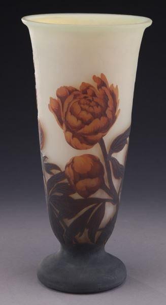 Mueller Fres Luneville cameo glass vase, - 3