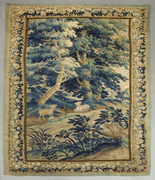 19th C. Aubusson tapestry panel depicting