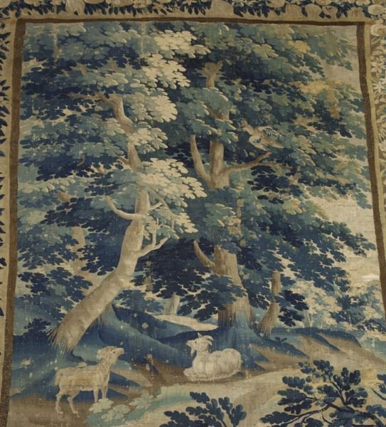 19th C. Aubusson tapestry panel depicting - 2