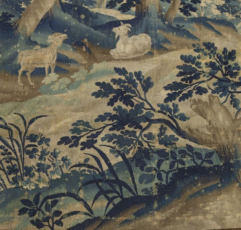 19th C. Aubusson tapestry panel depicting - 3