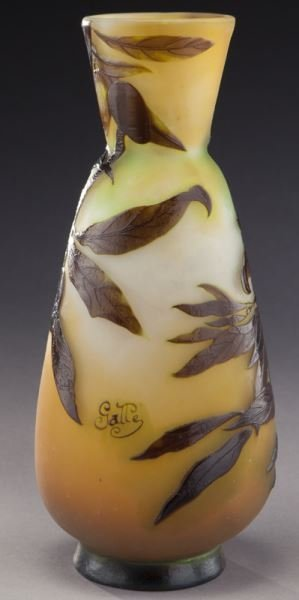 Galle French cameo glass vase, - 4