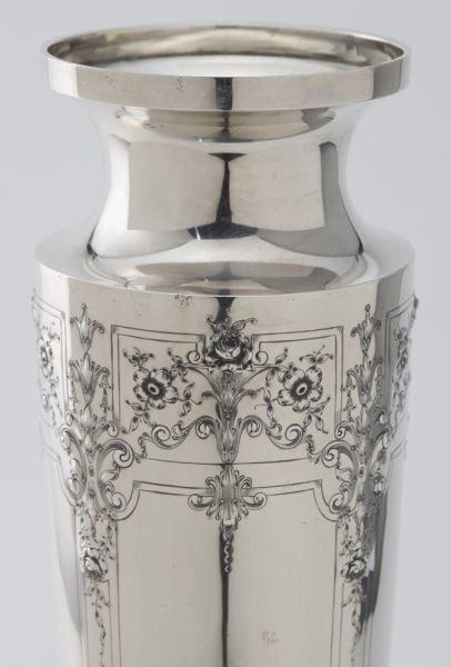 Barbour Silver Co. & Intl. sterling silver vase, - 5