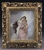 Gilt framed KPM porcelain plaque
