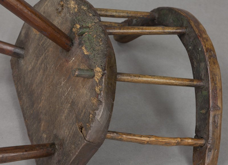 (2) Early 18th C. Welsh stick back chairs - 10
