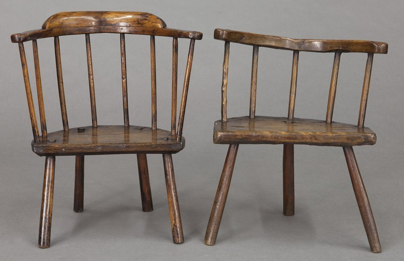 (2) Early 18th C. Welsh stick back chairs - 2
