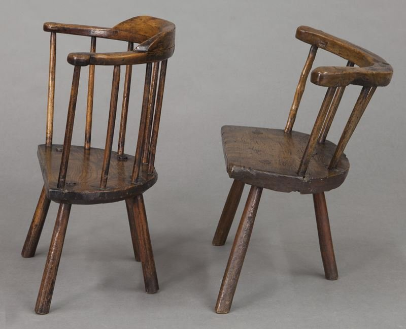 (2) Early 18th C. Welsh stick back chairs - 3