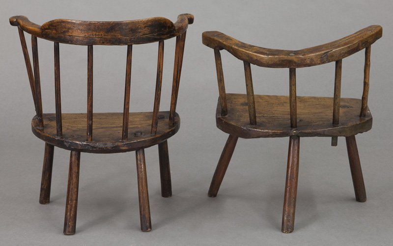 (2) Early 18th C. Welsh stick back chairs - 4