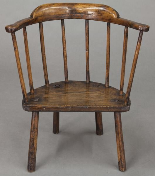 (2) Early 18th C. Welsh stick back chairs - 6