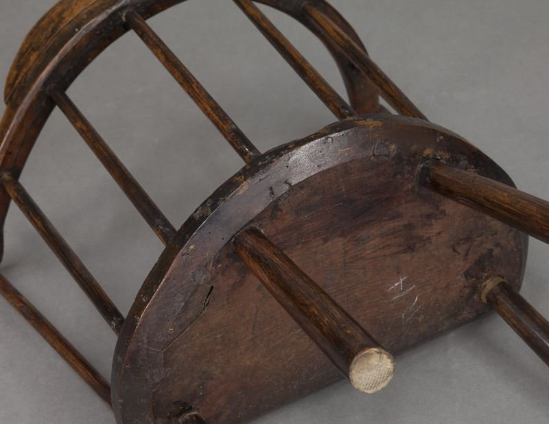 (2) Early 18th C. Welsh stick back chairs - 7