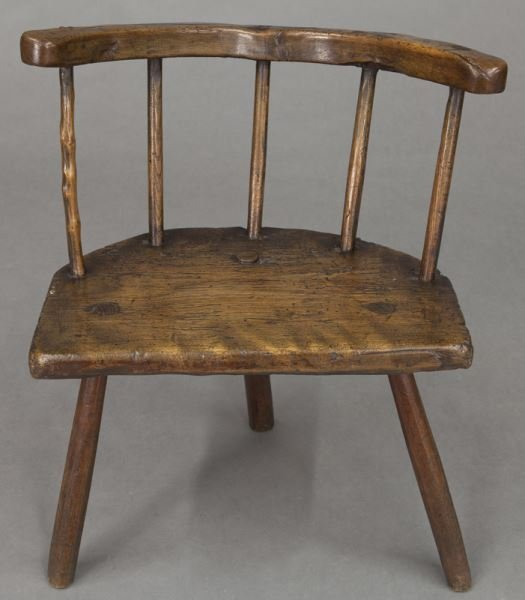 (2) Early 18th C. Welsh stick back chairs - 8