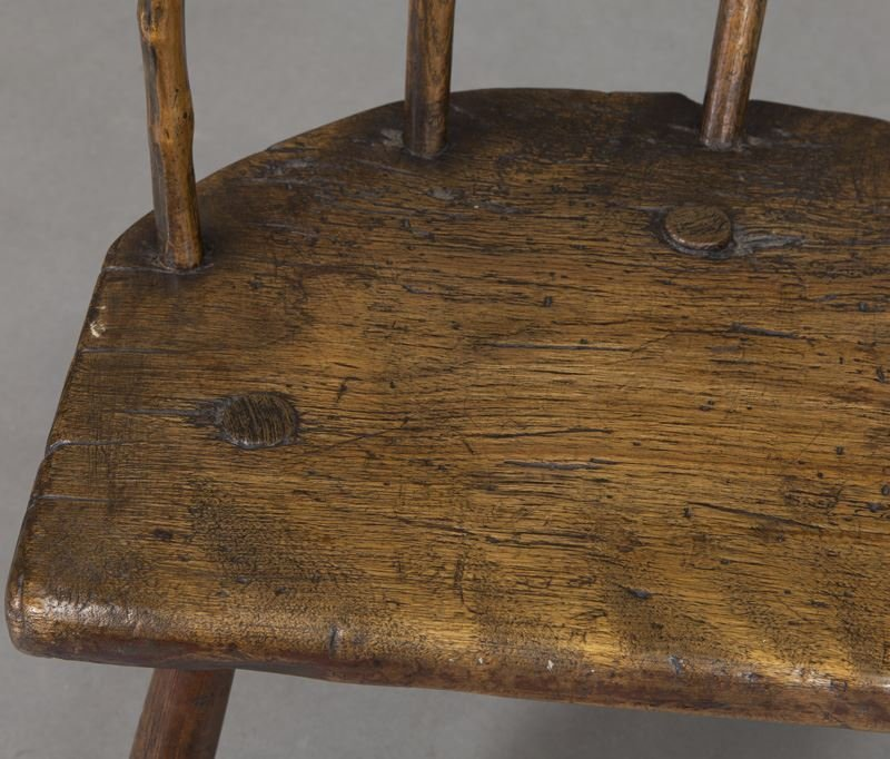 (2) Early 18th C. Welsh stick back chairs - 9