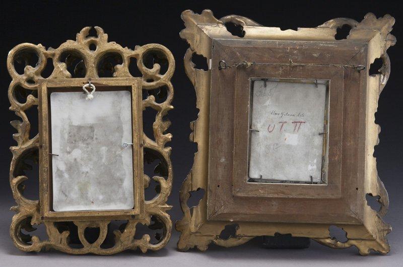 (2) German painted porcelain plaques, - 4