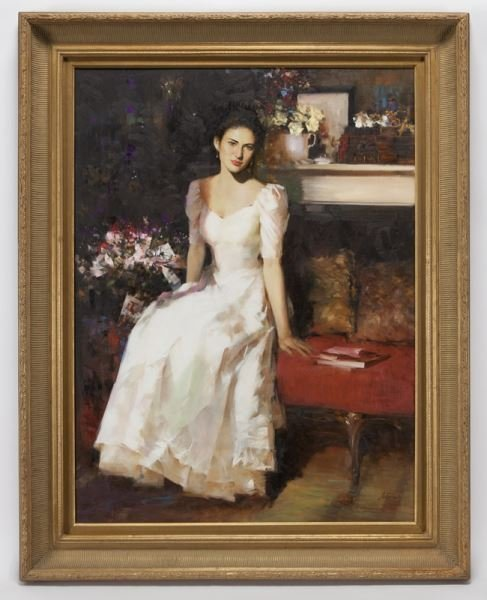 """An He """"Untitled (Portrait of a woman in a white - 2"""