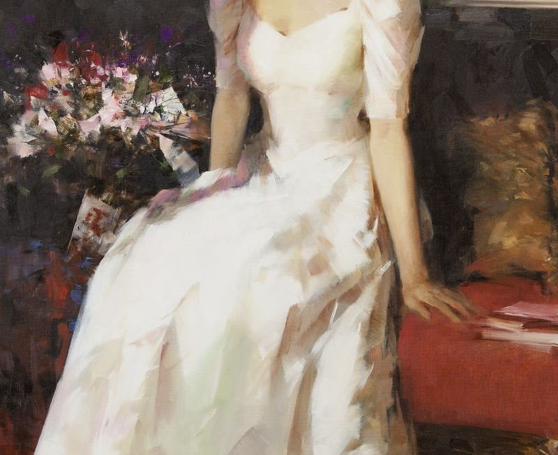 """An He """"Untitled (Portrait of a woman in a white - 3"""