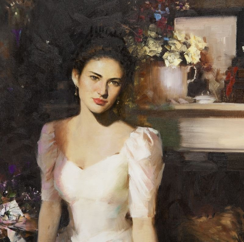 """An He """"Untitled (Portrait of a woman in a white - 4"""