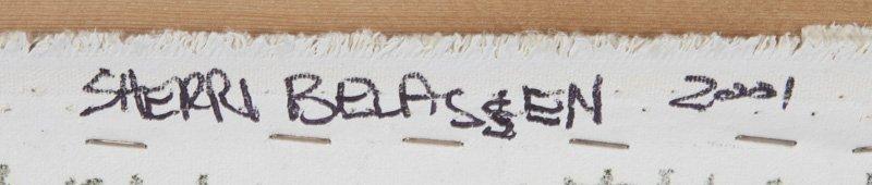"""Sherri Belassen """"Evidence"""" oil on canvas, 2001. - 6"""