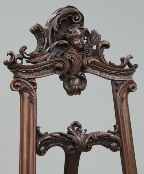 Victorian style carved mahogany floor easel - 5