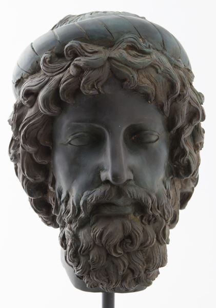 Greco-Roman head of Poseidon, hollow cast bronze - 2