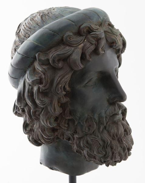 Greco-Roman head of Poseidon, hollow cast bronze - 3