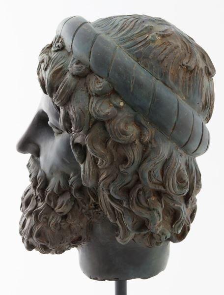 Greco-Roman head of Poseidon, hollow cast bronze - 5