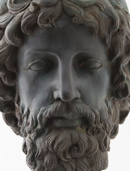 Greco-Roman head of Poseidon, hollow cast bronze - 6
