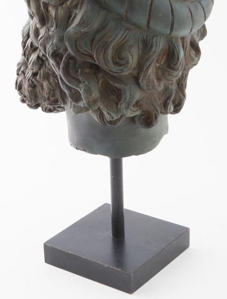 Greco-Roman head of Poseidon, hollow cast bronze - 8
