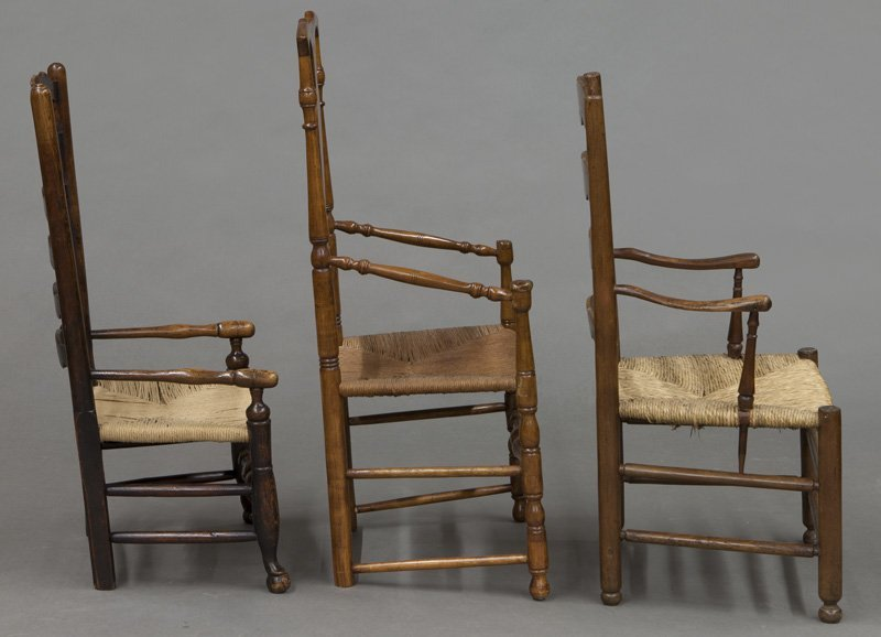 (6) Antique chairs including : (1) Early American - 3