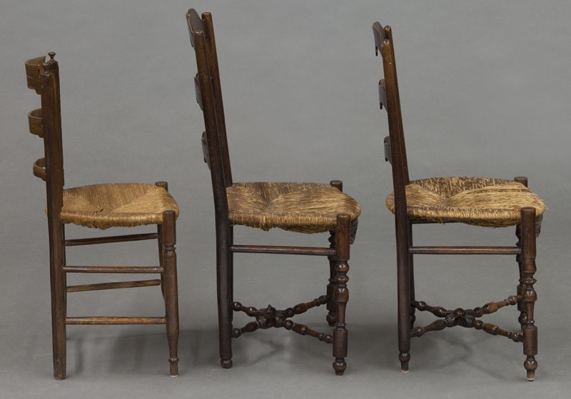 (6) Antique chairs including : (1) Early American - 7
