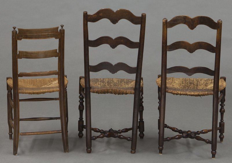 (6) Antique chairs including : (1) Early American - 8