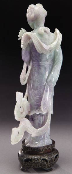Chinese carved lavender and light green jade - 3