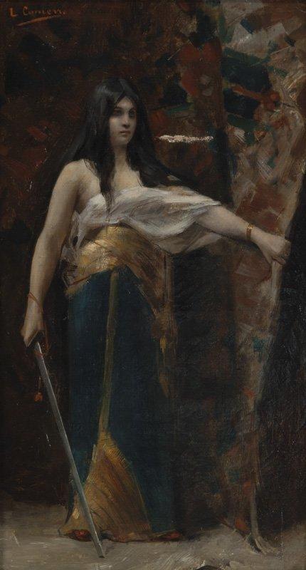 """Léon François Comerre """"Judith"""" oil on canvas."""
