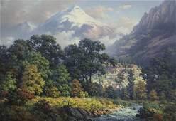 "Dalhart Windberg ""Upland Grandeur"" oil on canvas."