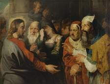 """Circle of Sir Peter Paul Rubens """"Christ and the"""