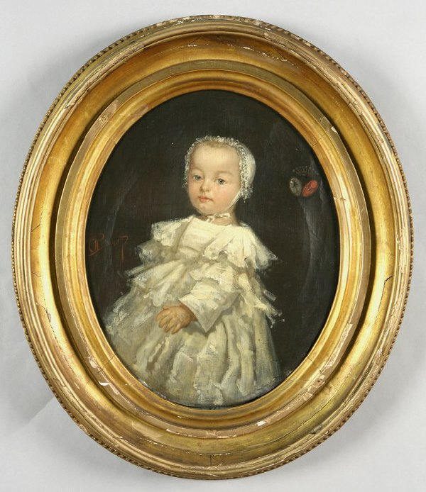3: Oliver Pichat oil painting on canvas of a noble