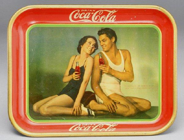 5: Coca-Cola 1934 serving tray depicting Maureen
