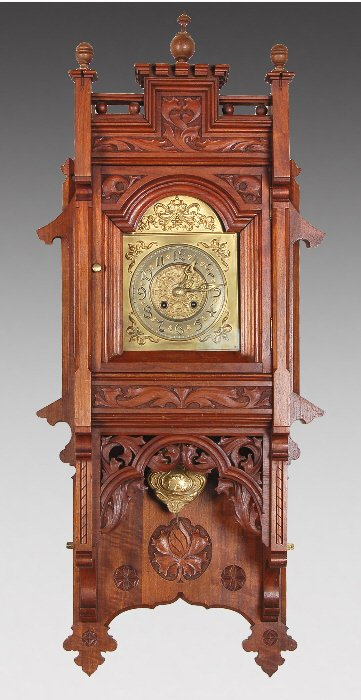 9: A Gustav Becker Art Nouveau wall clock,