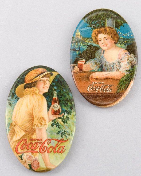 11: (2) Coca-Cola pocket mirrors including: