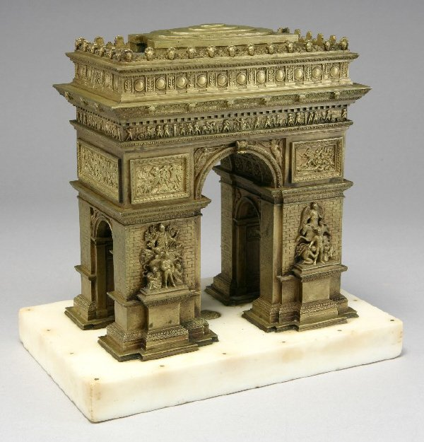 13: A French Grand Tour bronze model of the Arc