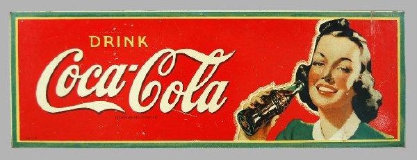 14: Coca-Cola 1941 masonite sign depicting a woman